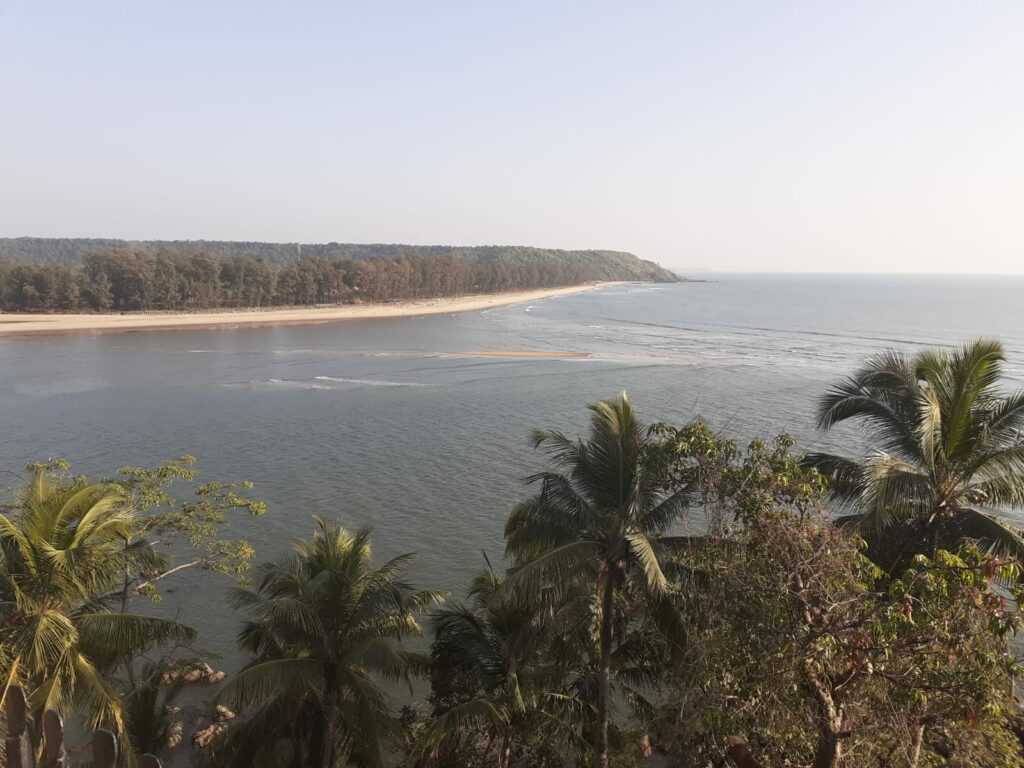 Goa Fort Tiracol view