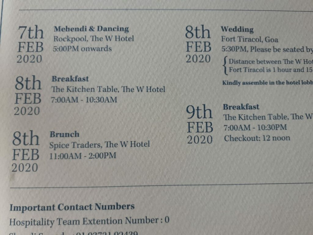 Wedding program blog post